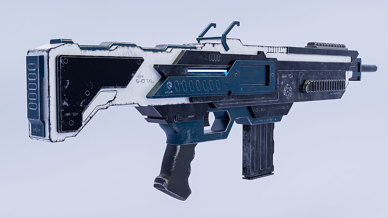 Sci-Fi Rifle AR-75X