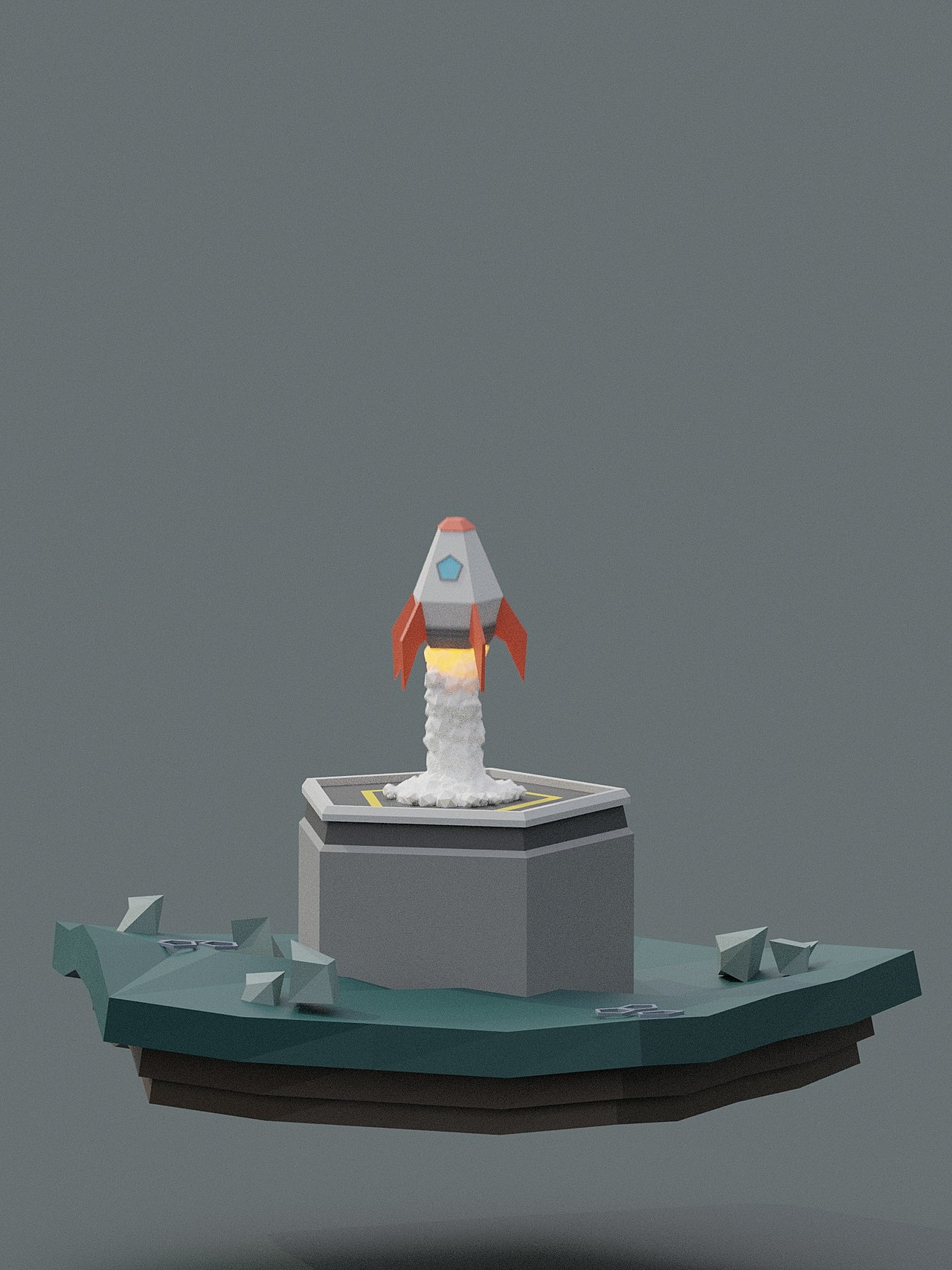 Low Poly Rocket (1st Render)
