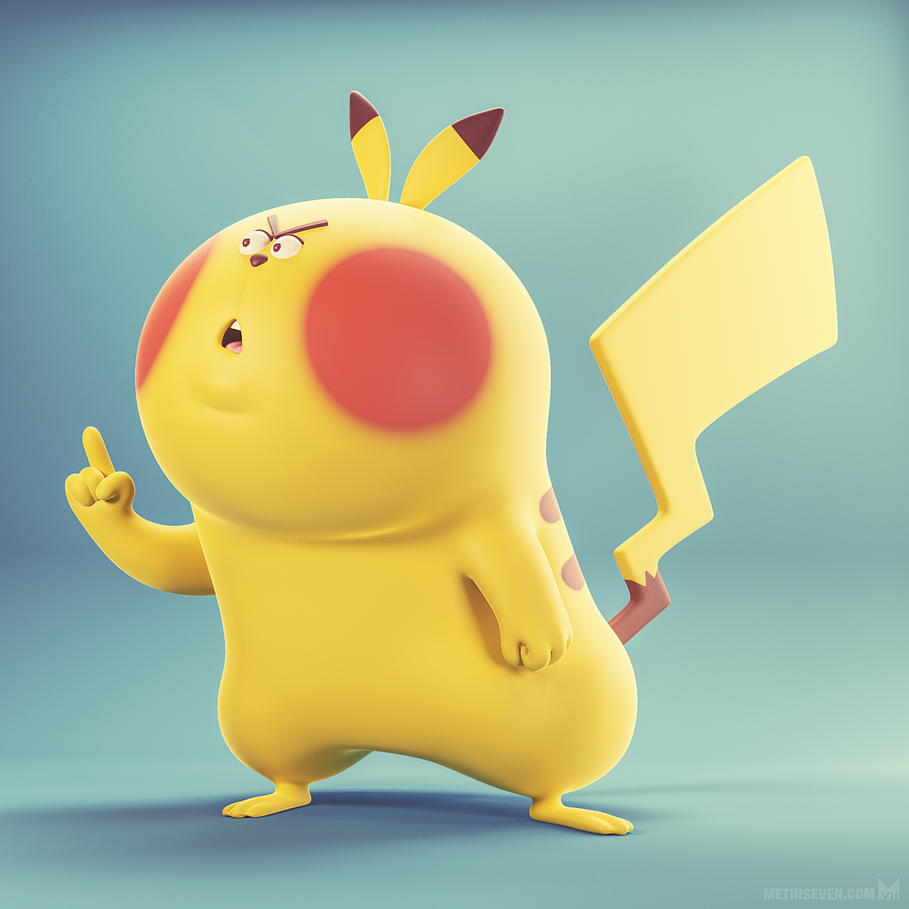 Don't mess with the Pika ☝