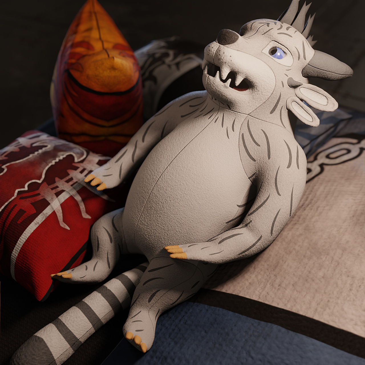 Charr plushie renders