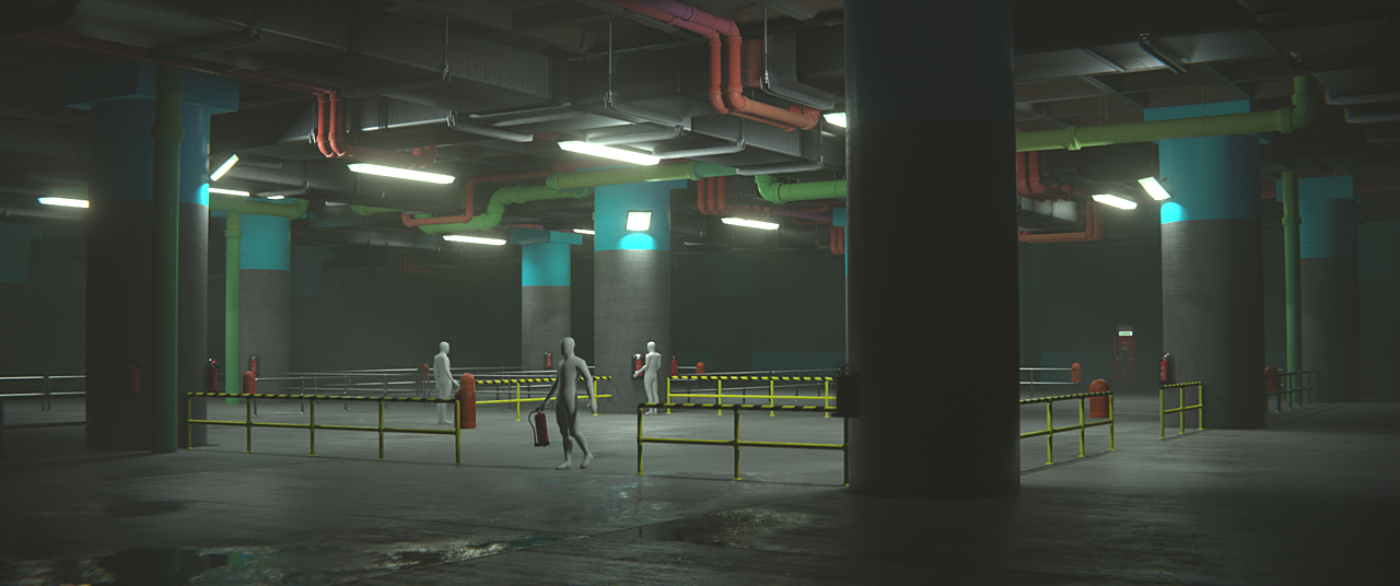 Garage Scene from Realistic Industrial Environments Course