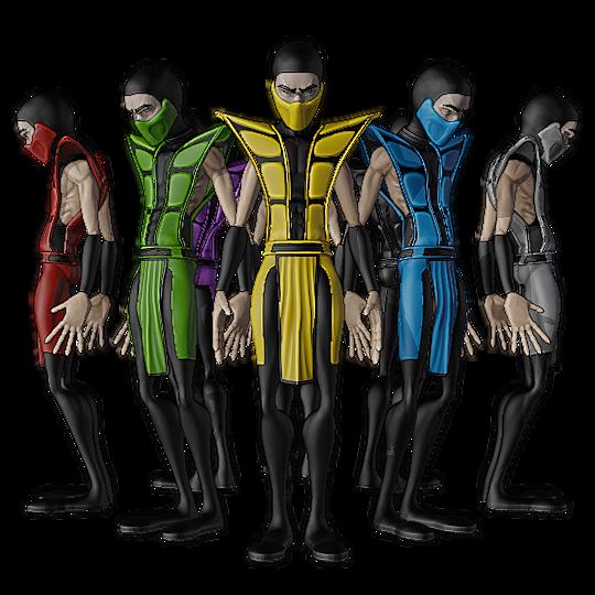 UMK3 Ninja Pack - Stylized
