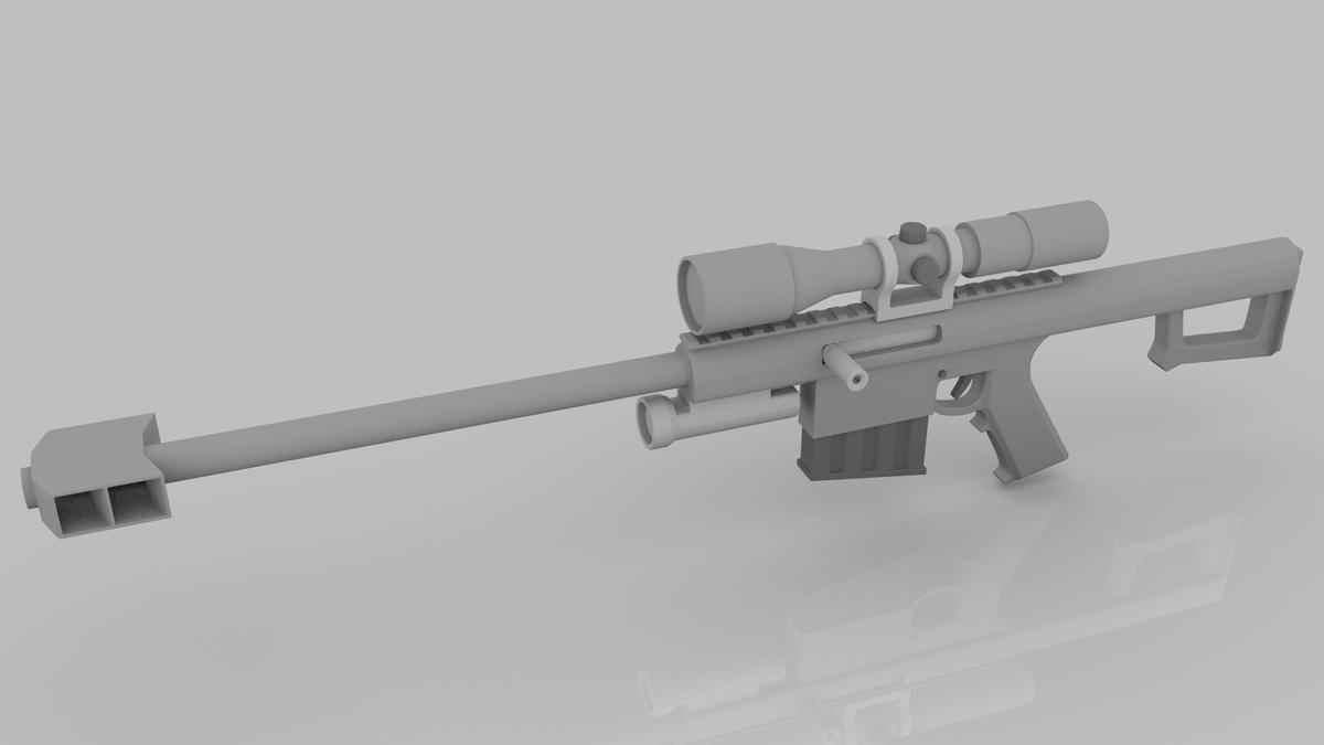 50 Caliber Anti-Material Long Rifle
