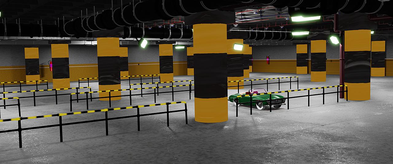 City parking hall