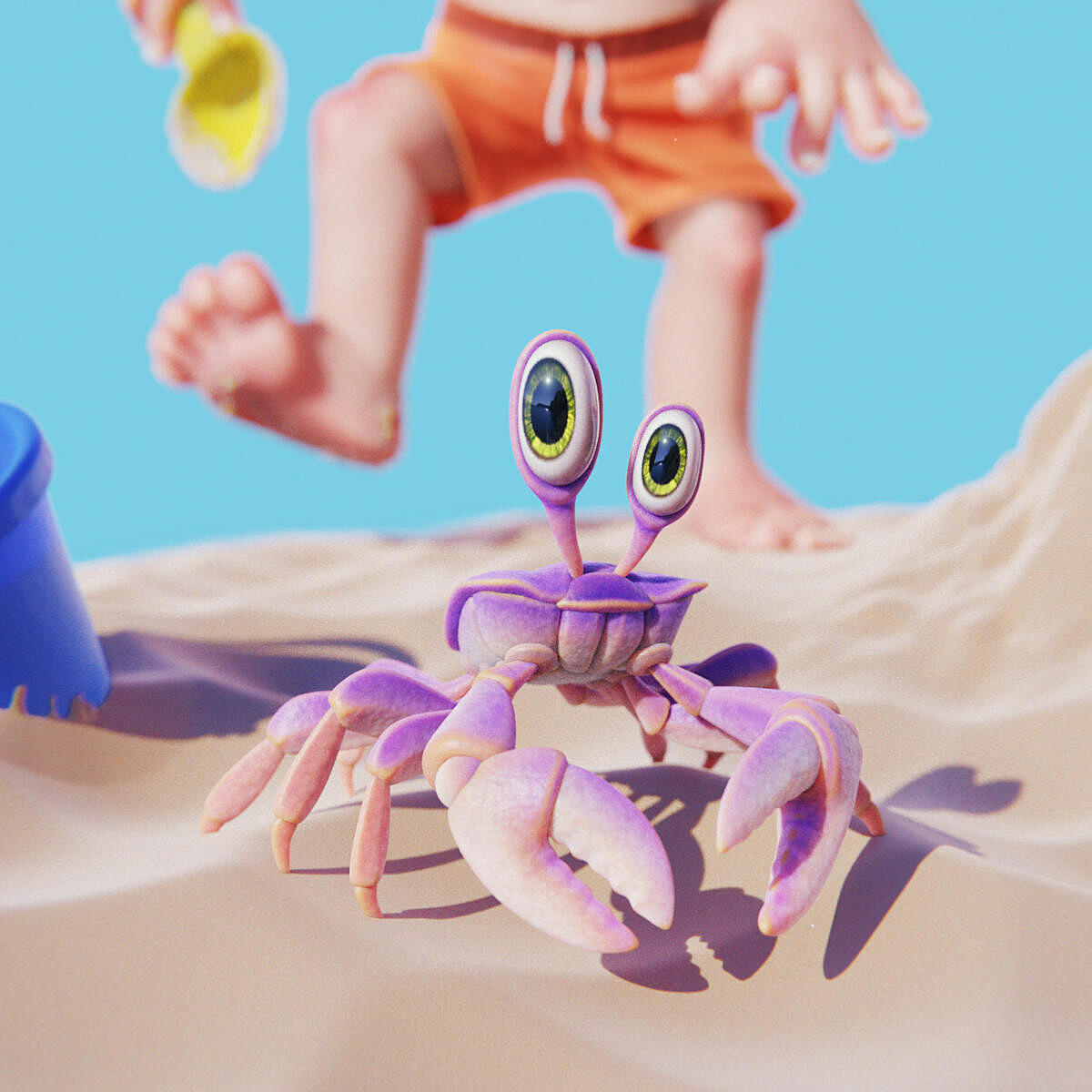 Toddler and the Crab