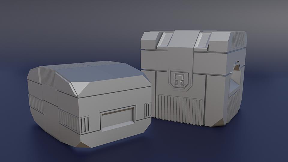 Scifi crates