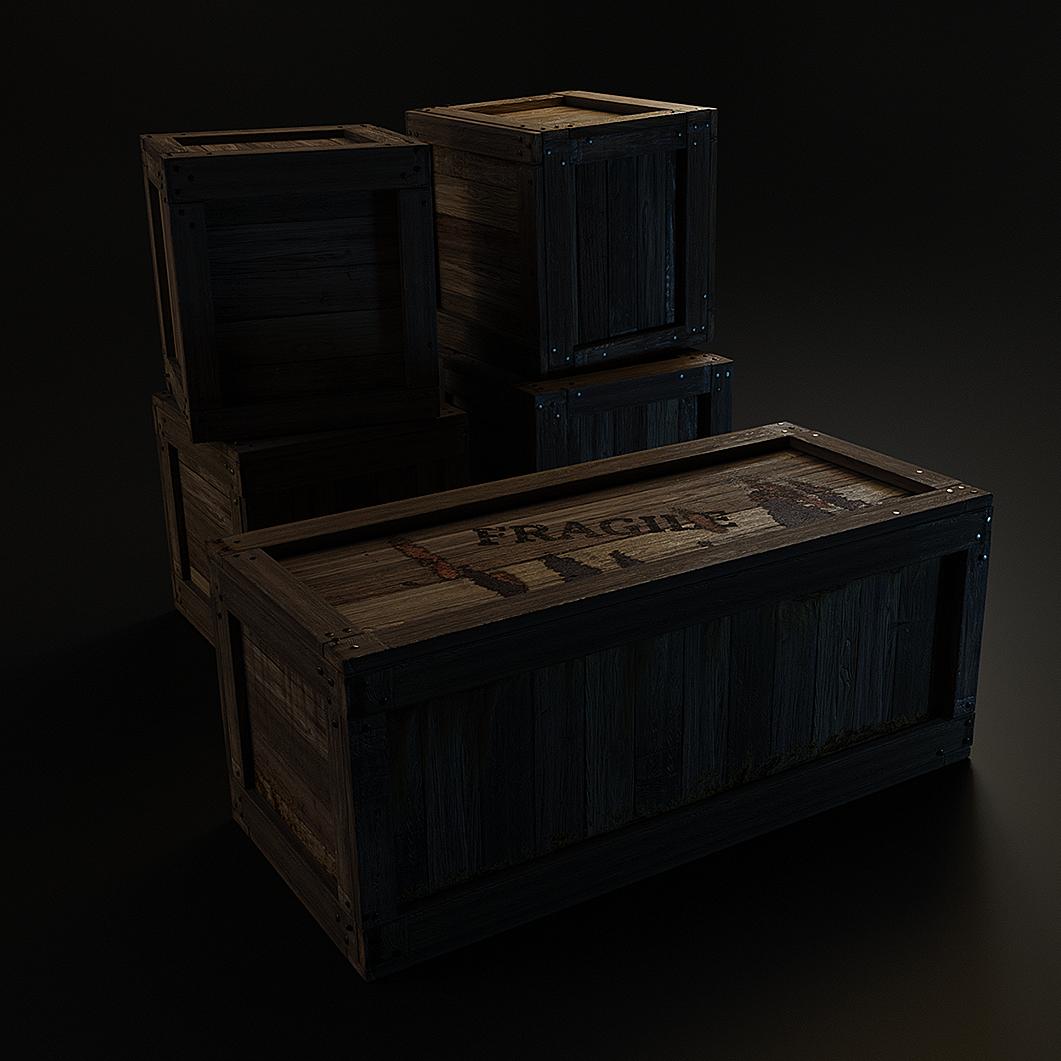 Wooden Cargo Boxes