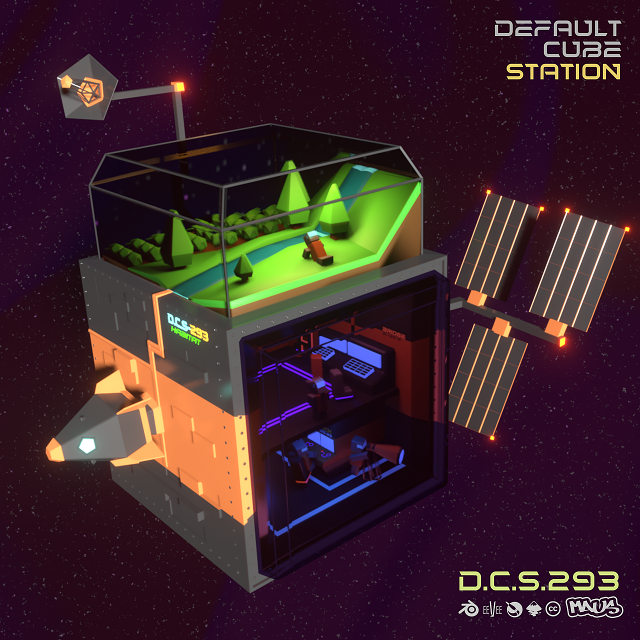 Space Station Challenge 2021  - The Default Cube Station
