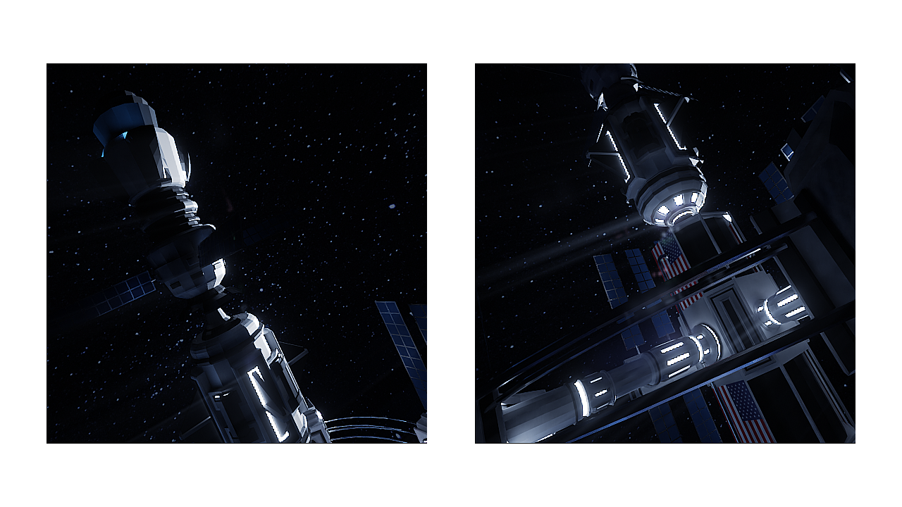 Low Poly Space Station Challenge 2021 - Nemesis