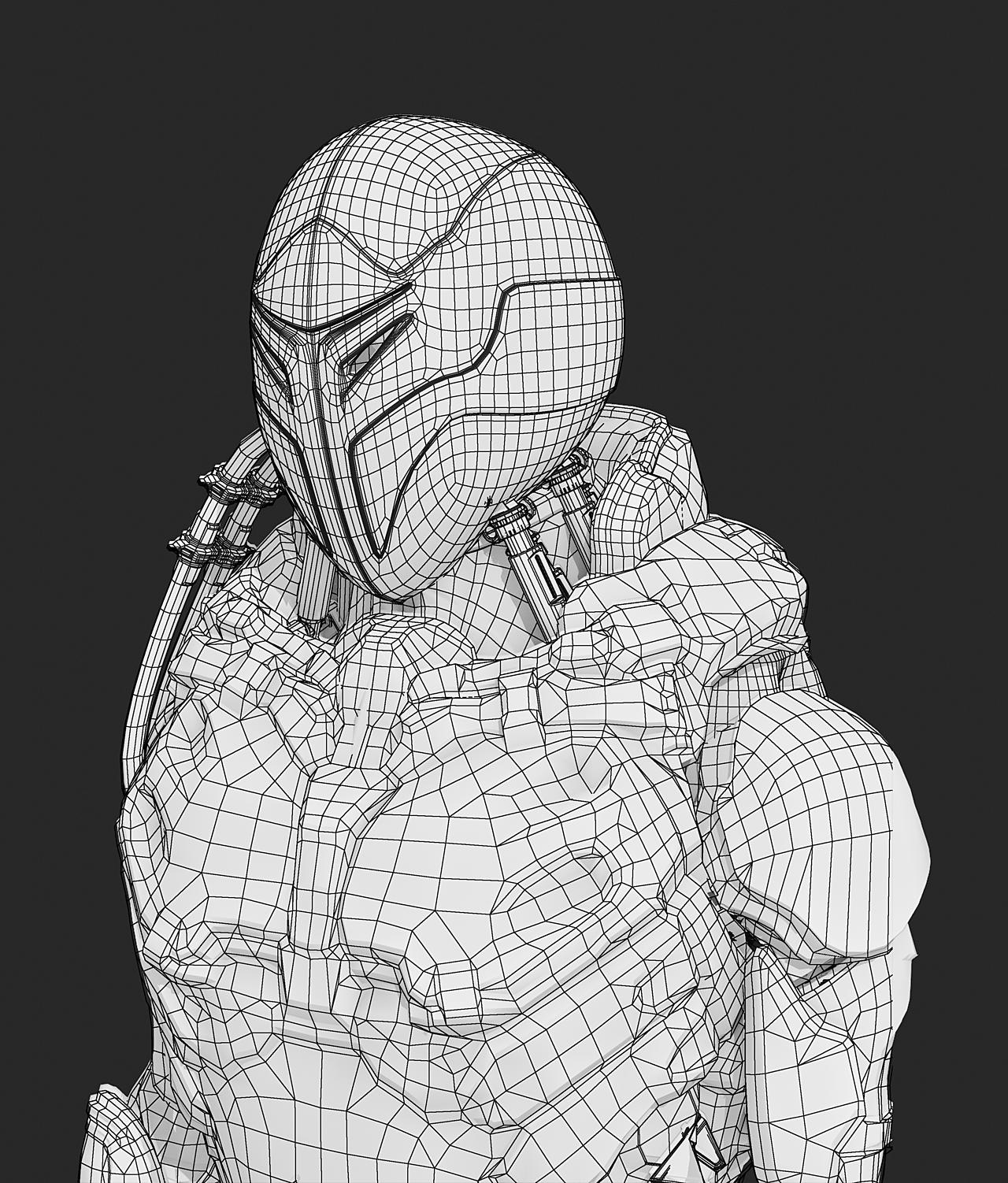 Mecha robot modeling