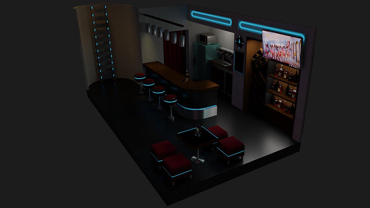 Basic Mesh Modeling Room Project