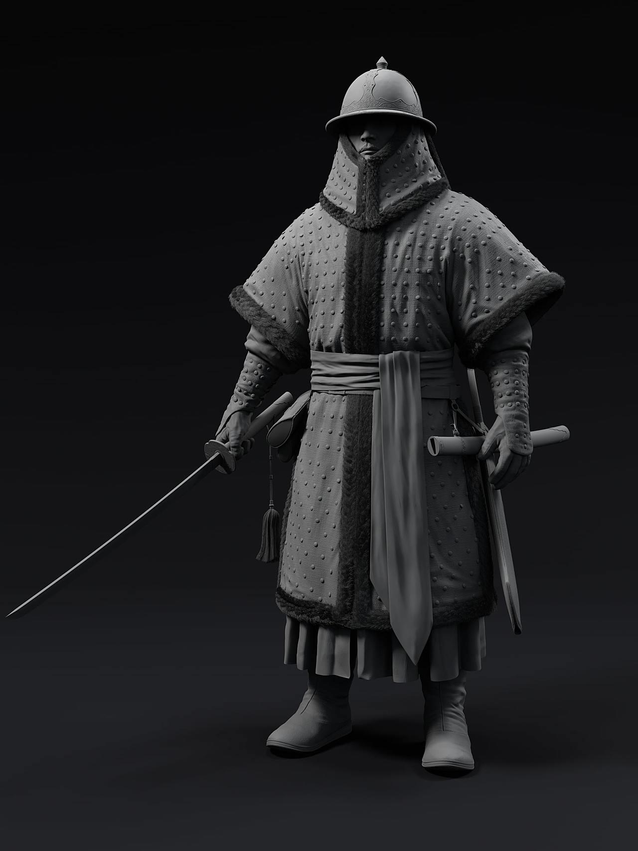 Medieval Korean Soldier Sculpt