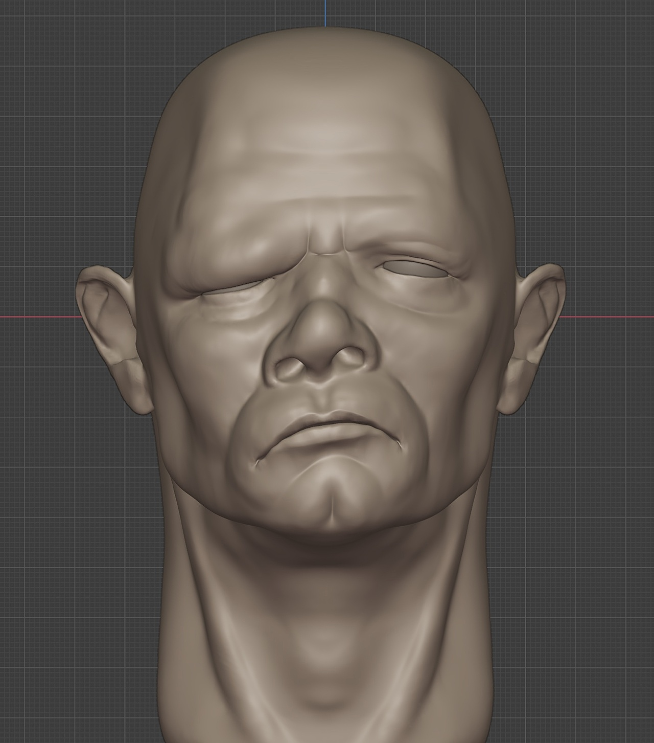 First Sculpting attempt on with blender 2.93