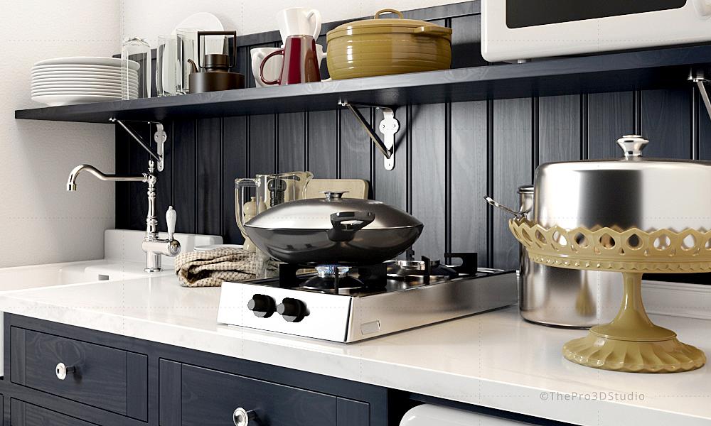 Kitchen Interior 3D Design