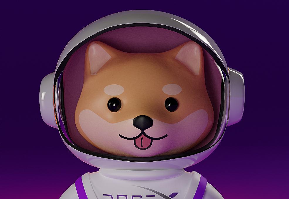 Dogex Cartoon dog render