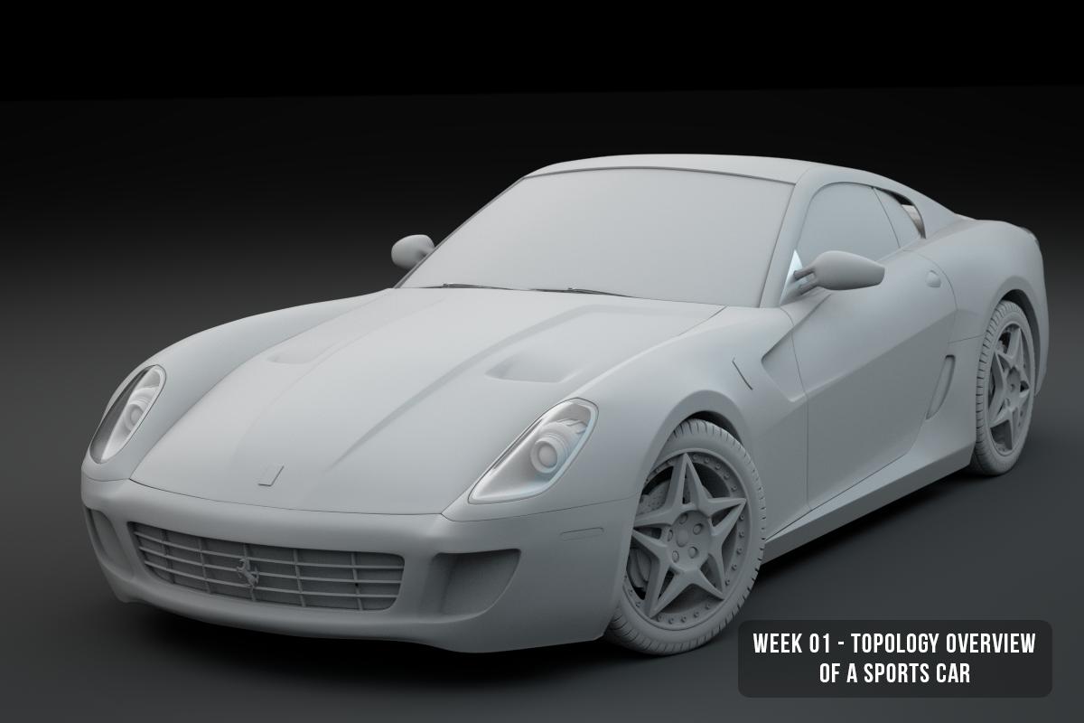High Poly Car Model