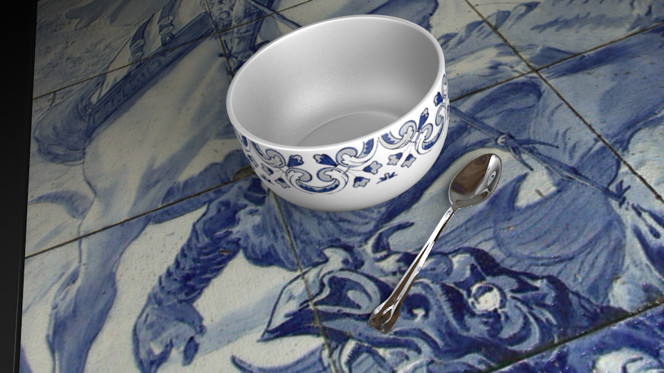 Table,Spoon and Bowl