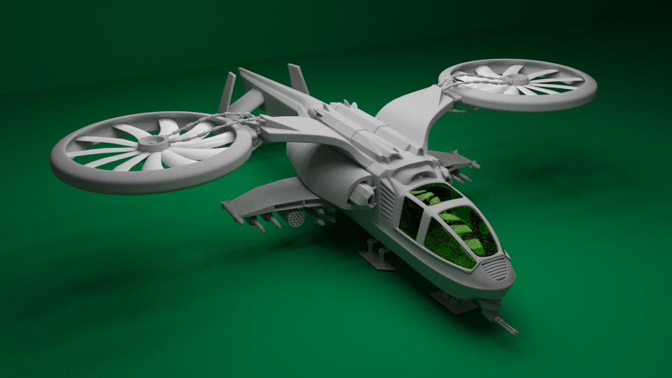 Sci-Fi Helicopter