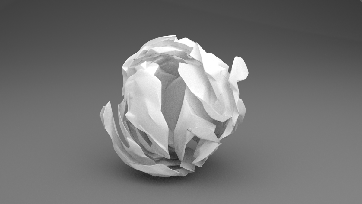 crumpled paper ball - cg cookie