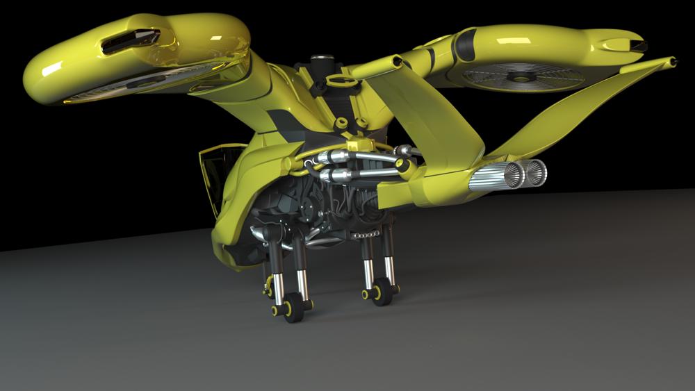 Space Flyer Rear