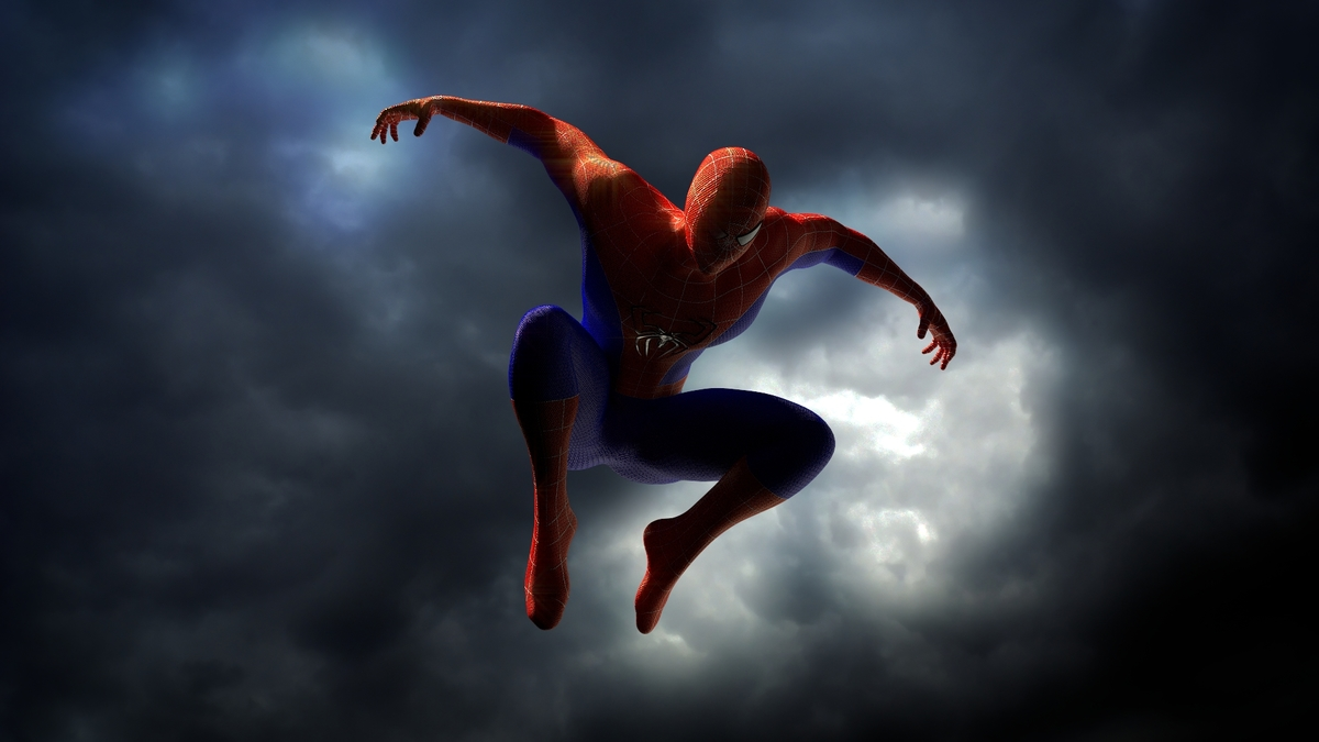 Spiderman on sky