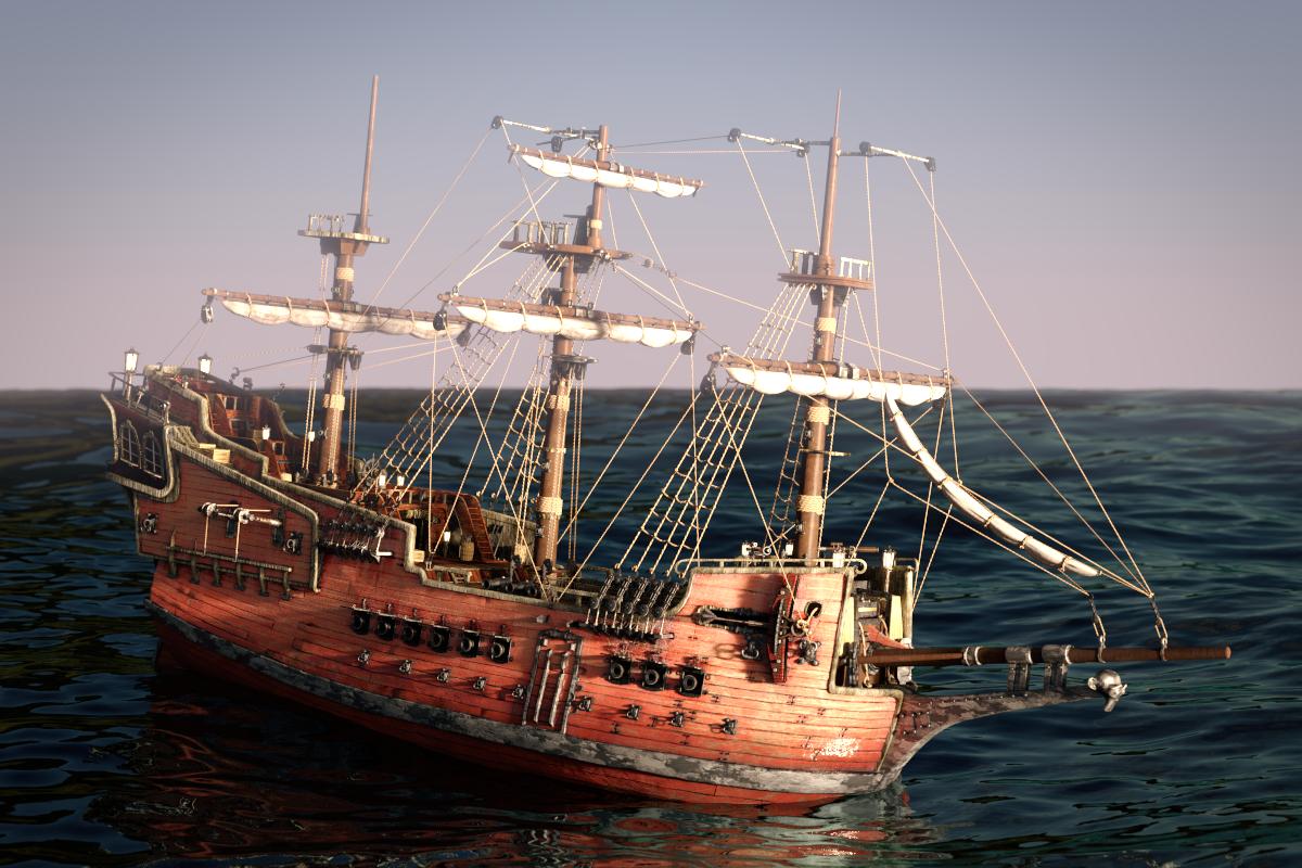 pirate ship u2013 textures cg cookie