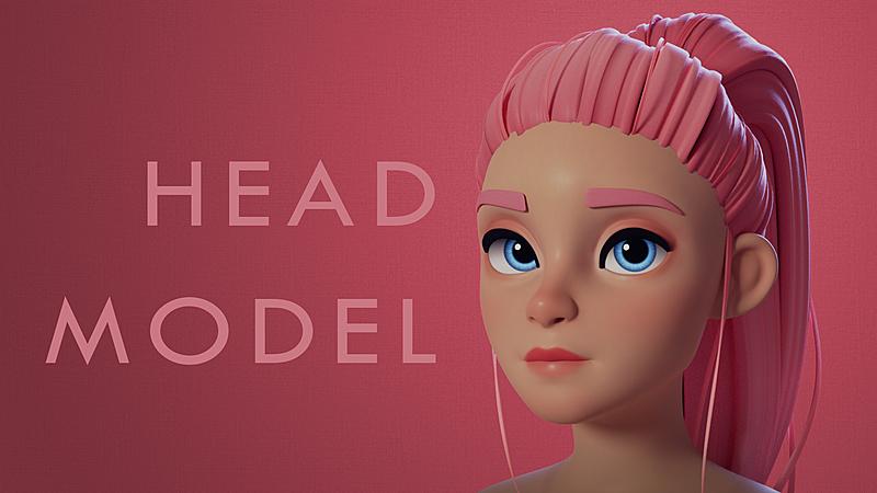Blender Character Head Model