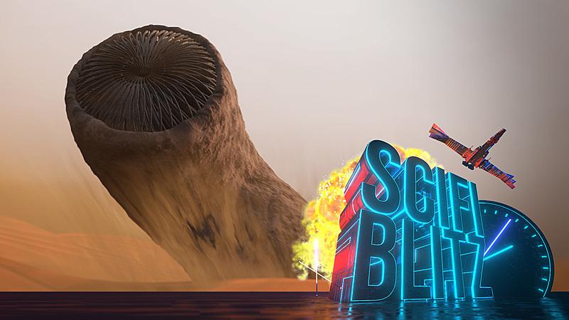 Blender Scene: Dune Sand Worm