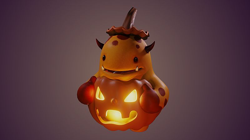 Model: Melvin Pumpkin Costume