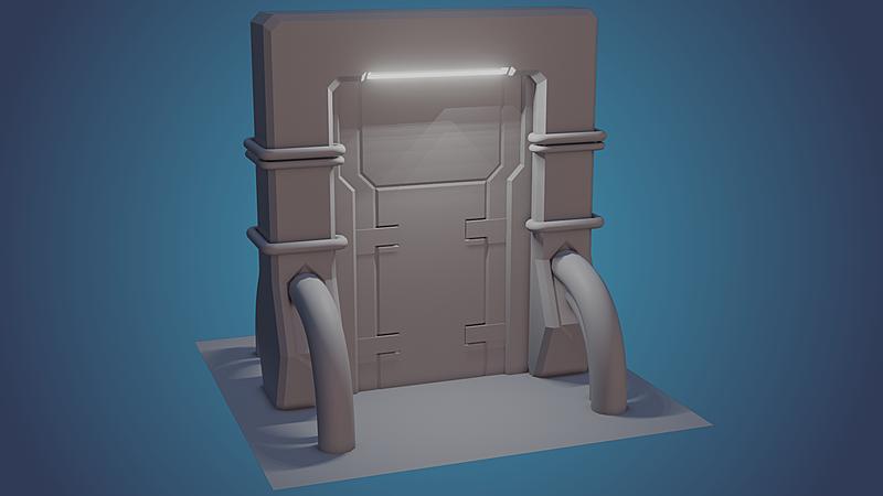 Model: Sci-fi Door