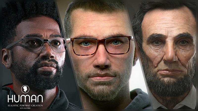 HUMAN Realistic Portrait Assets - Simon, Abe, Colin