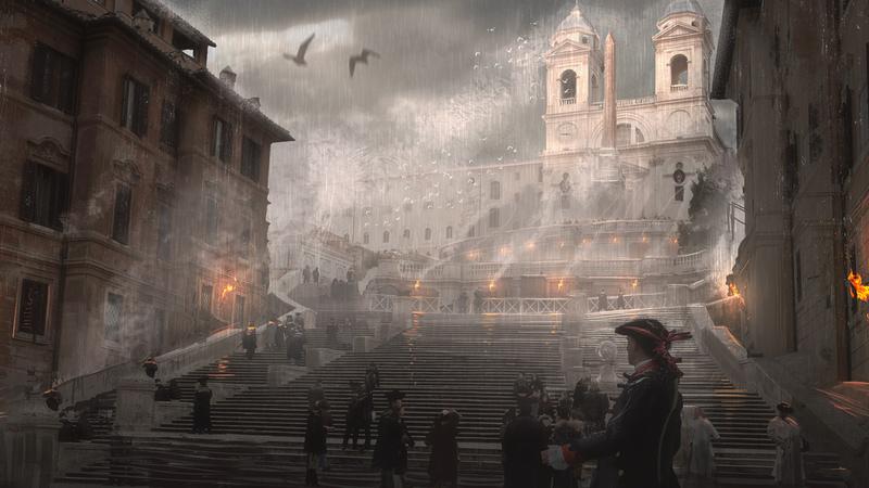 Painting a Rain Environment