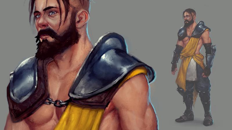 Warrior Character Timelapse