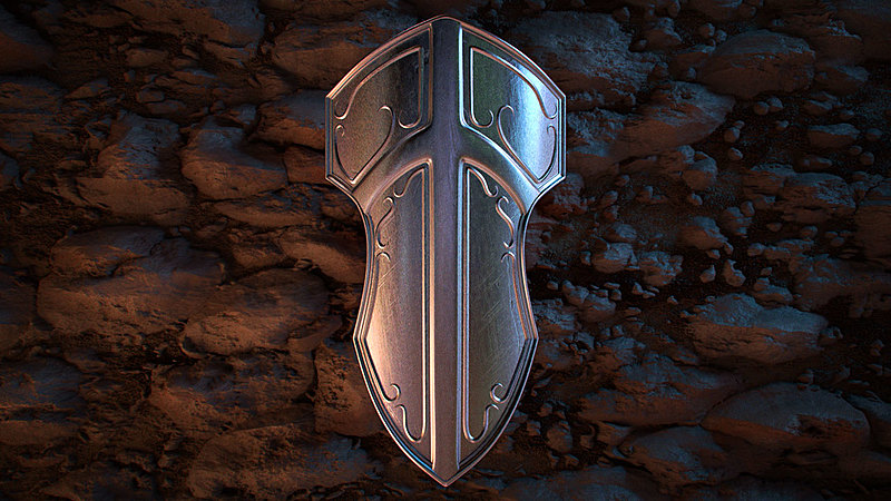 Modeling an Ornamental Shield with Blender 2.8