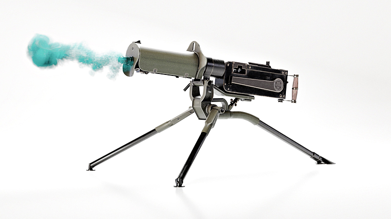 Colorful Gun Smoke in Blender
