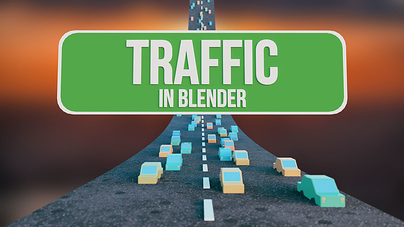 Quick and Easy Traffic Simulations in Blender!