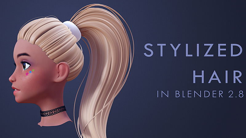 Modeling Stylized Hair in Blender