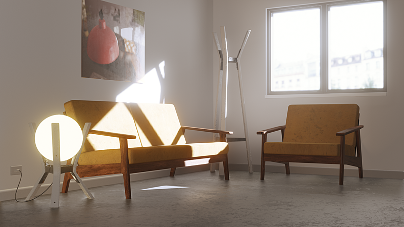 Lighting a Simple Room in Blender 2.81 in 5 minutes with Eevee + Light Probes