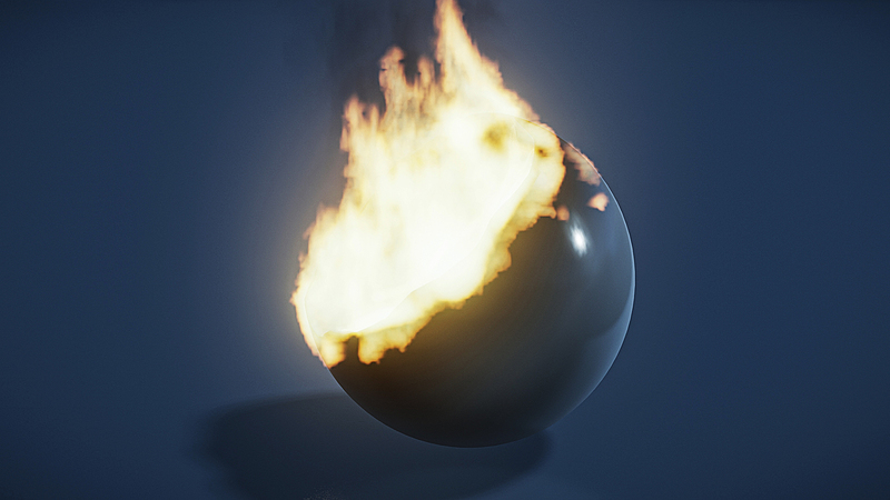 Creating a Burning Effect Simulation in Blender