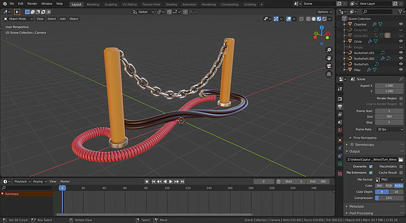 Creating Procedural Chain Links in Blender